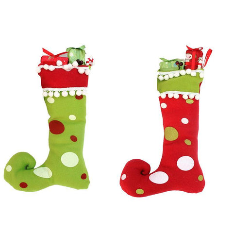 Elf Boot Christmas Stocking | Home Decor | All For Xmas