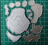 Santa Claus Big Beard Metal Cutting Die | DIY Scrapbooking | All For Xmas