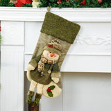 Christmas Traditional Cloth Stocking - Santa Snowman | Home Decor | All For Xmas