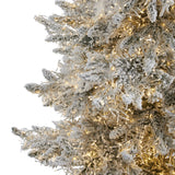 7.5' Flocked Grand Northern Rocky Fir Artificial Christmas Tree