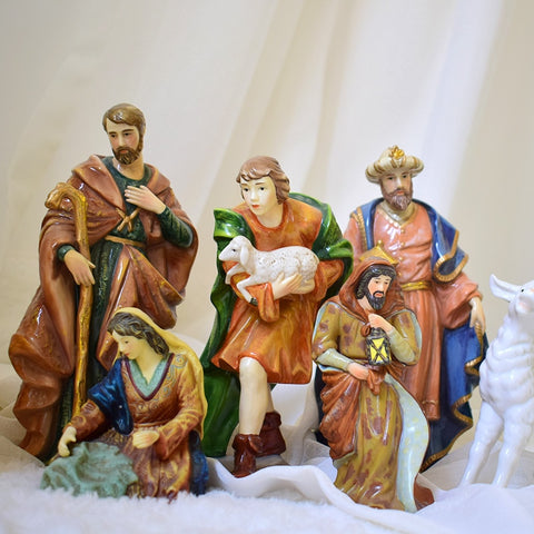 Nativity Scene Ceramic Figures | Christmas Decor | All For Xmas