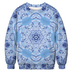 Ugly Christmas Sweater Printed Pullover - Snowflakes | Christmas Apparel | All For Xmas