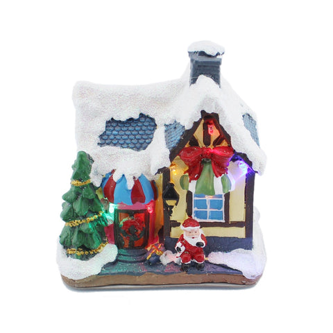 Colorful Christmas Village House With Multi-Color LED Light | Christmas Decor | All For Xmas