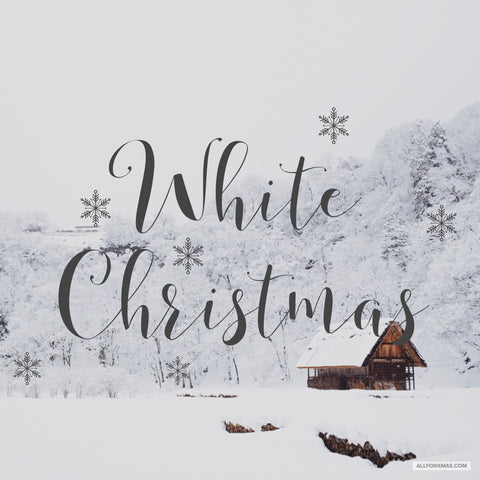 White Christmas Card | Greeting Cards | All For Xmas