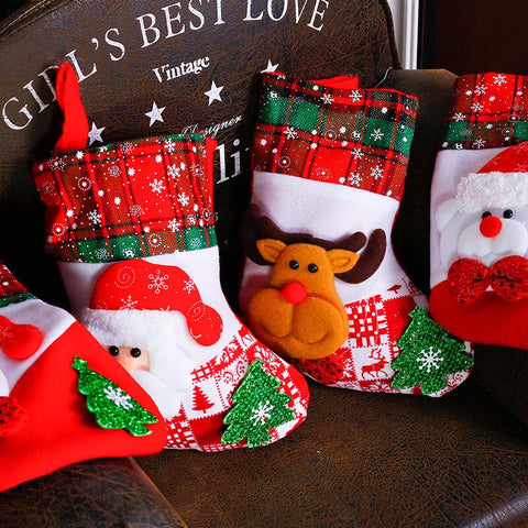 Small Christmas Traditional 3D Stocking - 3 designs | Home Decor | All For Xmas - All For Xmas