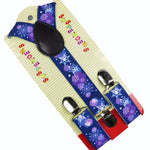 Purple Christmas  Ornaments Suspenders For Children | Christmas Apparel | All For Xmas