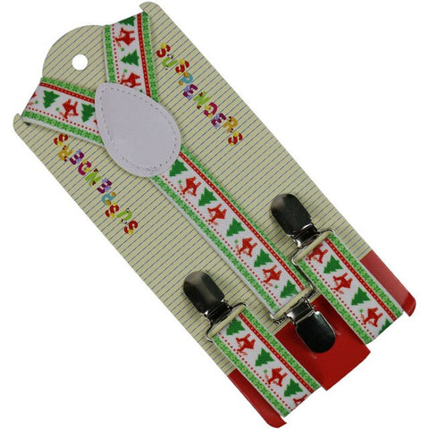 Trees Reindeer Y-shaped Suspenders For Christmas | Christmas Apparel | All For Christmas