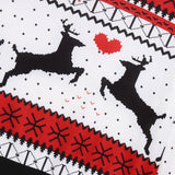 Couples Ugly Christmas Pullover - Reindeers Heart | Christmas Apparel | All For Xmas