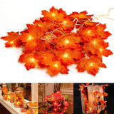 Maple Leaves LED Fairy String Lights | Christmas Lighting | All For Xmas