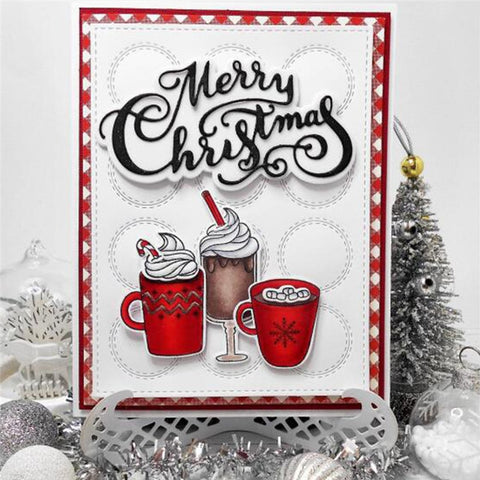 Warm Holiday Drinks Metal Cutting Die | DIY Scrapbooking | All For Xmas