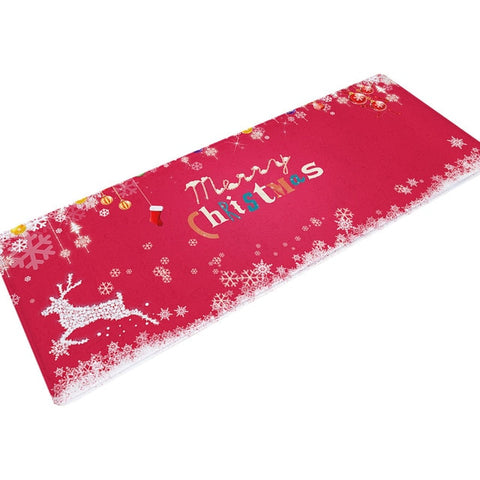 Long Christmas Non-Slip Doormat Kitchen Carpet | Home Decor | All For Xmas