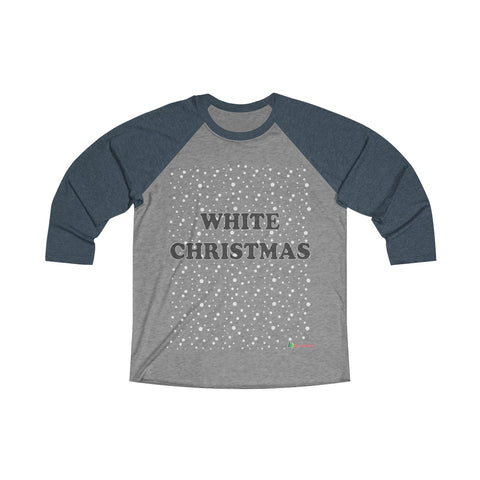 3/4 Sleeve Tee | White Christmas | Unisex Multiple Colors | Christmas Apparel | All For Xmas