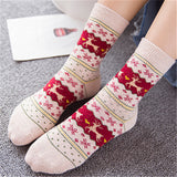Women Wool Cotton Winter Christmas Short Socks | Christmas Apparel | All For Xmas - All For Xmas