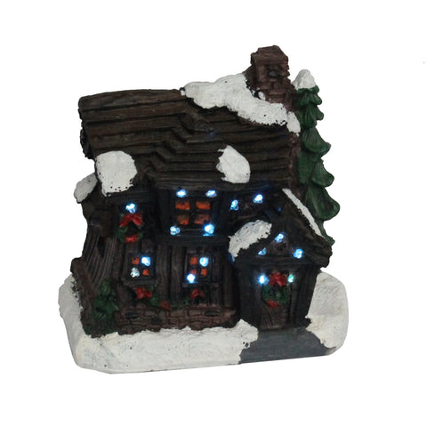 4 inch LED Vintage Christmas Village House | Christmas Decor - All For Xmas