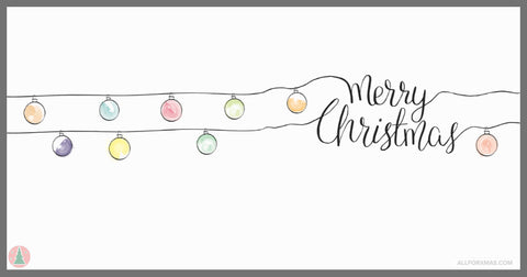 Merry Christmas (White) Card | Greeting Cards | All For Xmas