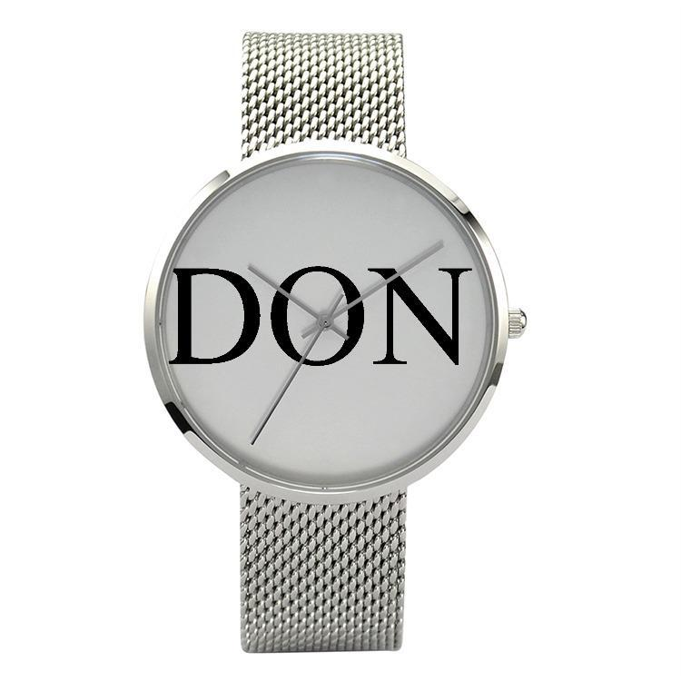 30 Meters Waterproof Don Watch - Silver - Watch