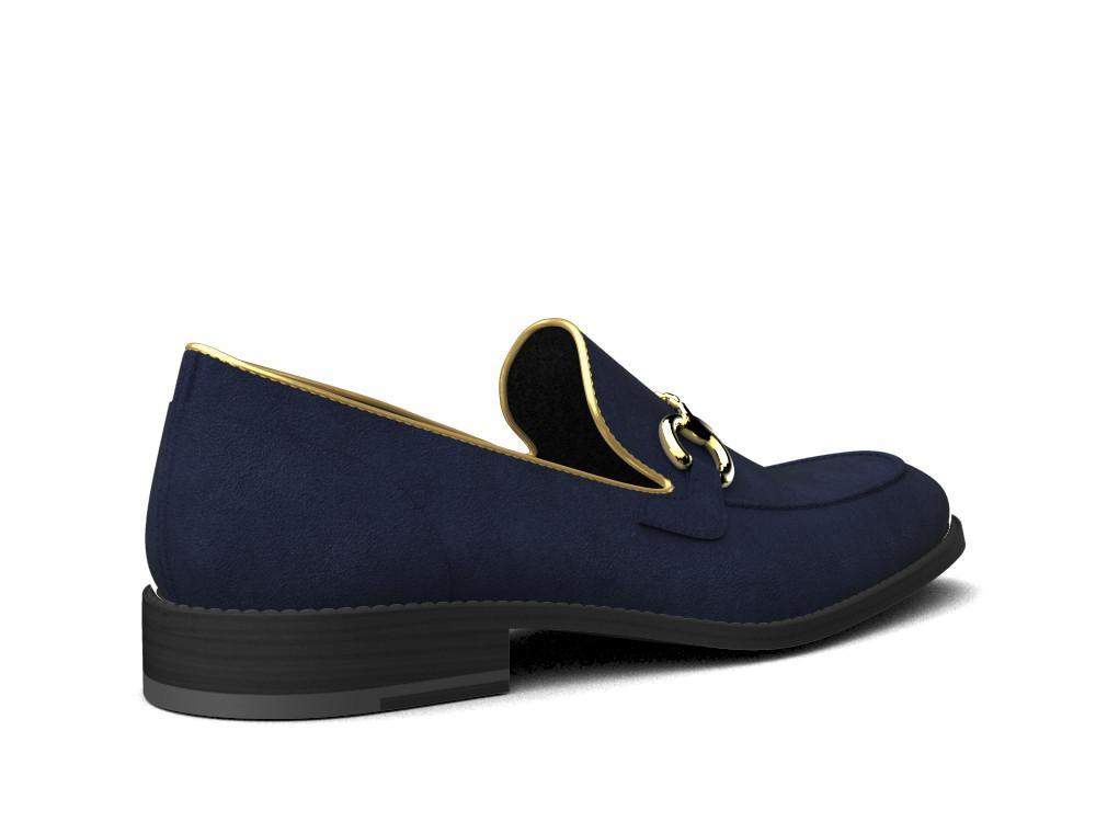 Official Don X Gianni Suede Navy Italian Penny Loafers - Shoes