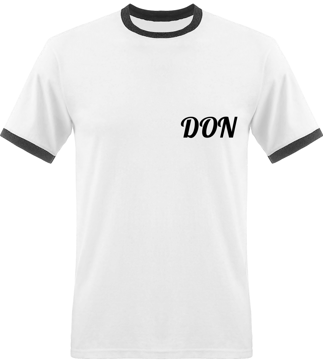 Mens Official Don T-Shirt - White / Black / S - Homme>Tee-Shirts
