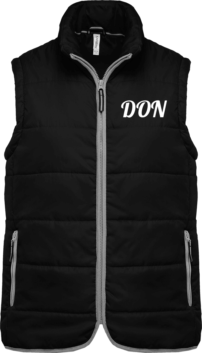 Mens Official Don Quilted Bodywarmer - Black / Xs - Unisexe>Vestes & Manteaux