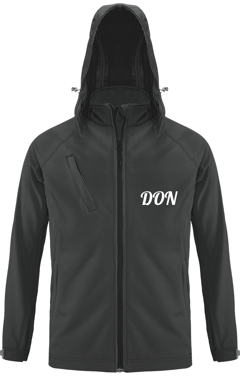 Mens Don Official Softshell Hooded Jacket - Titanium / S - Homme>Vestes & Manteaux