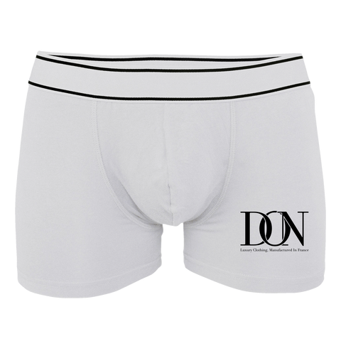 Mens Official Don Boxershort Kariban - White / S - Homme>Sous-Vêtements