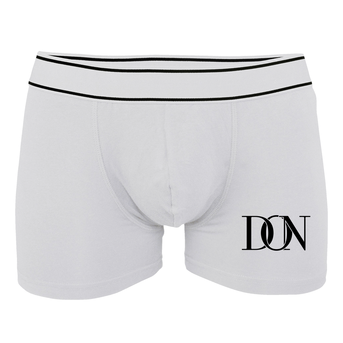 Mens Official Don Signature Plain Boxer-Shorts - White / S - Homme>Sous-Vêtements