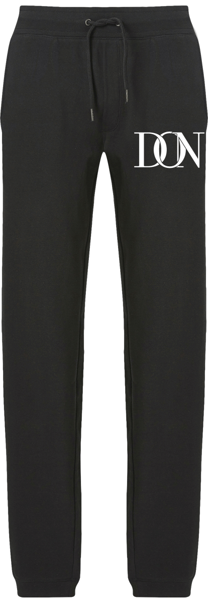 Mens Official Don Signature Dark Jogging Bottoms - Black / S - Homme>Vêtements De Sport