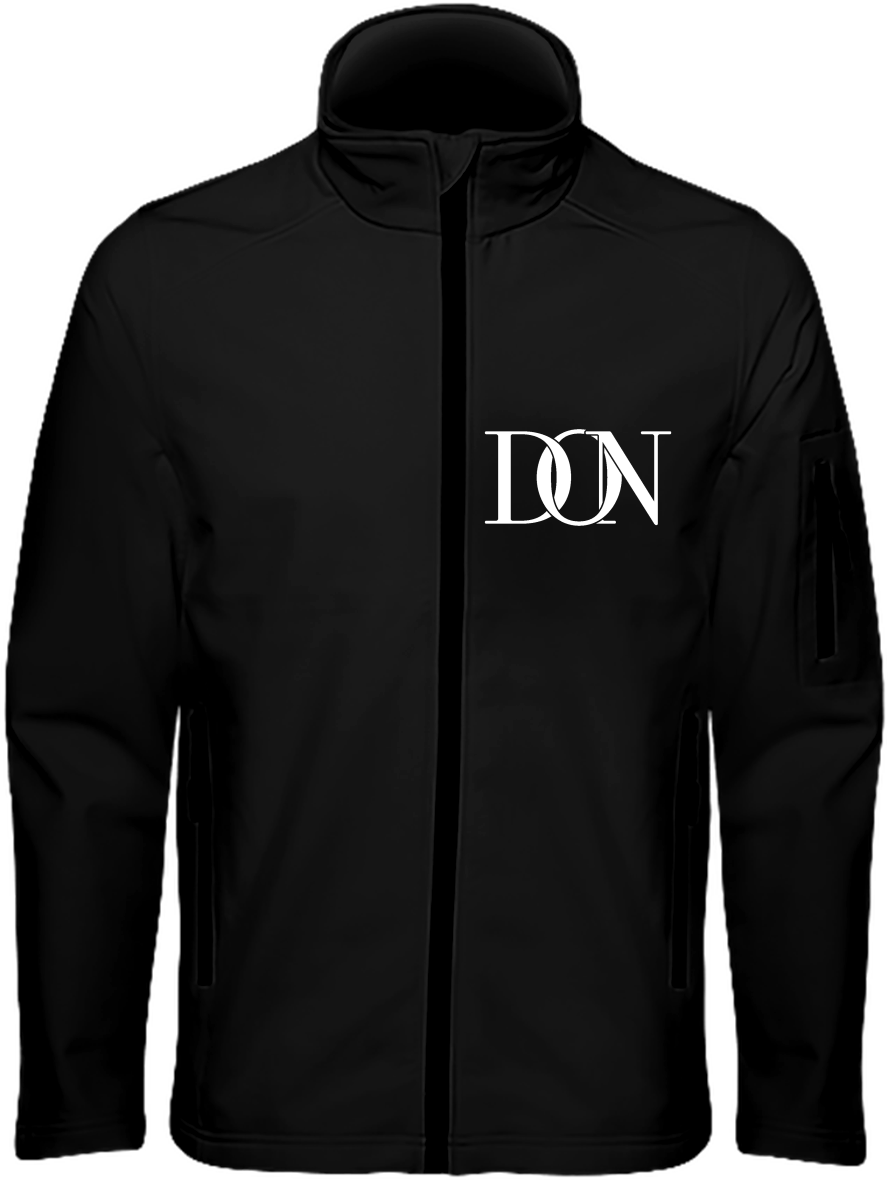 Mens Official Don Signature Dark Soft-Shell Jacket - Black / S - Homme>Vestes & Manteaux