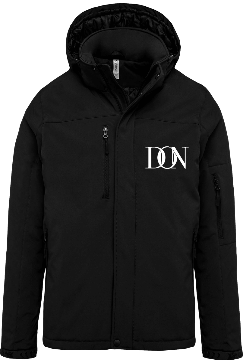 Official Don Signature Softshell Parka Lined With Removable Hood - Black / S - Homme>Vestes & Manteaux