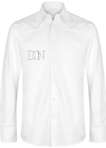 Mens Official Don Signature Light Slim Fit Shirt - White / S - Homme>Chemises & Pulls