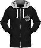Mens Official Don Lions Pride Chunky Hoodie - Jet Black (Grey Inner) / S - Homme>Sweatshirts