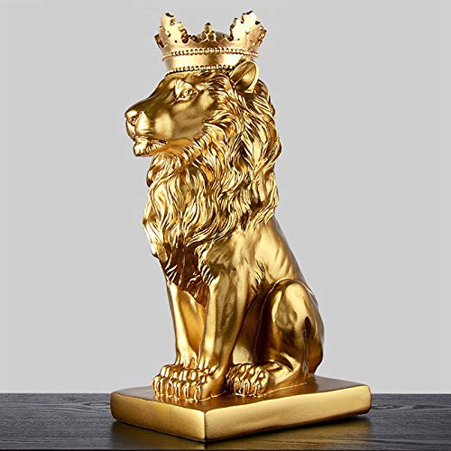 Lion's Pride Gold Home Statue