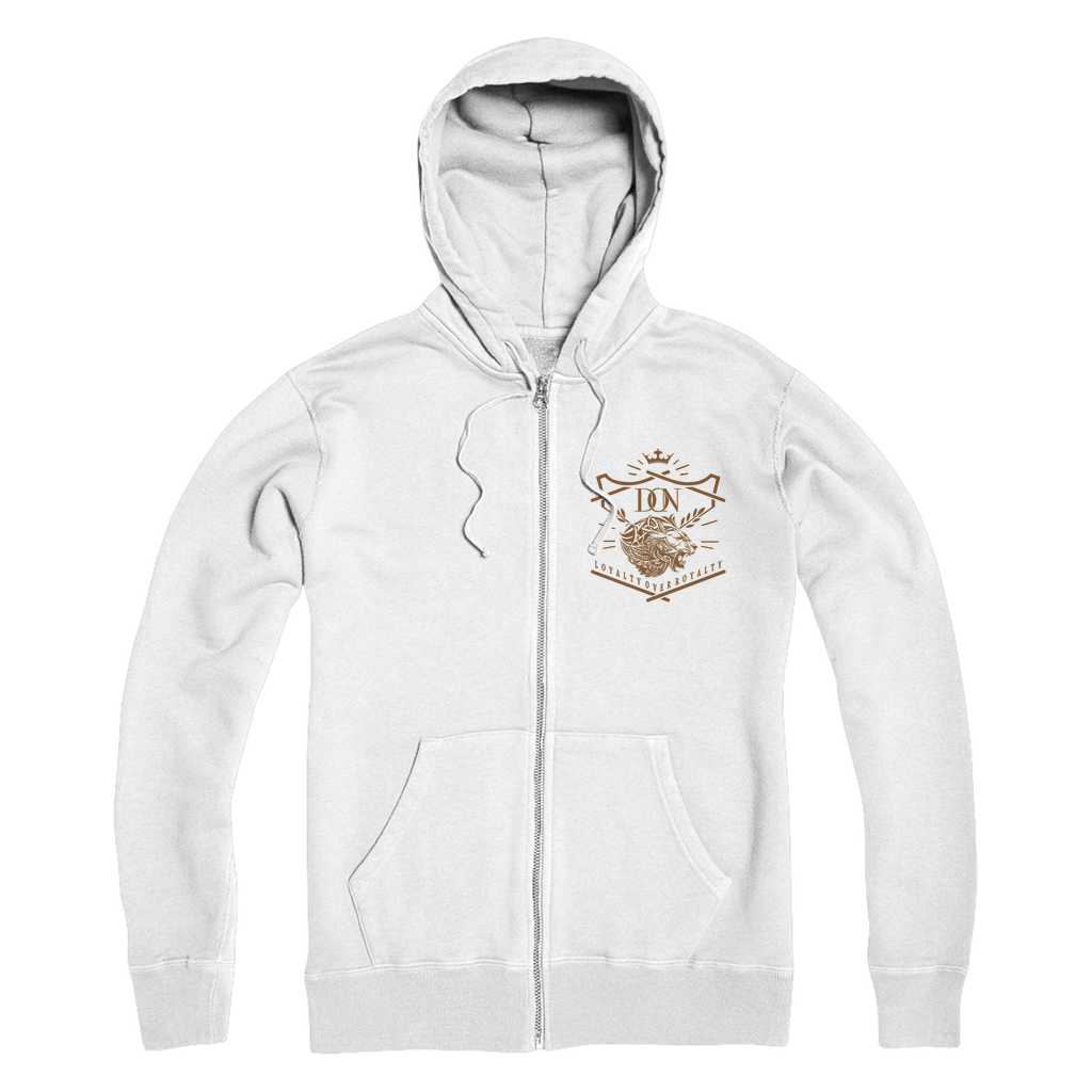 Lavender Loyalty Over Royalty Premium Adult Zip Hoodie