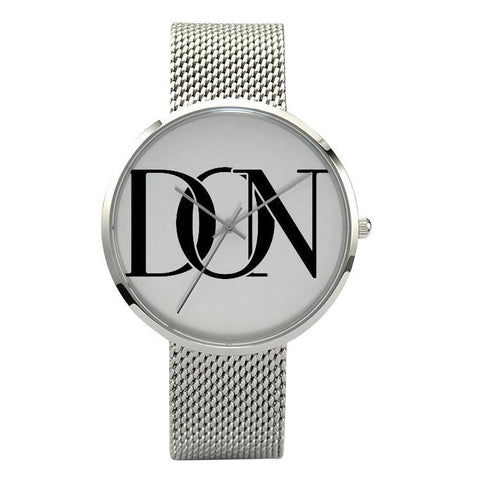 Official Don Signature Silver Band Watch - Silver - Watch
