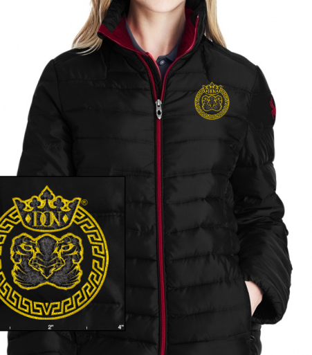 Womens Don X Spyder Embroidered Insulated Puffer Jacket - Coats