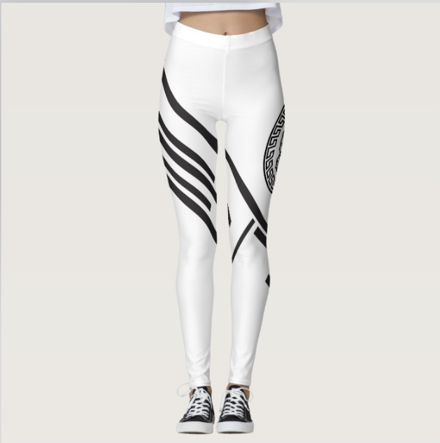 Womens Official Don Lions Pride Striped Leggings