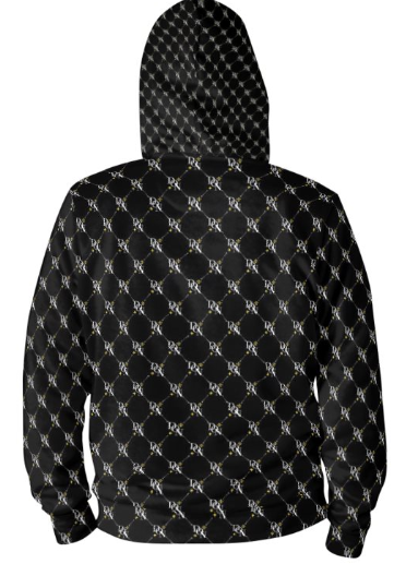 Black Men's Official DON Signature Print Hoodie