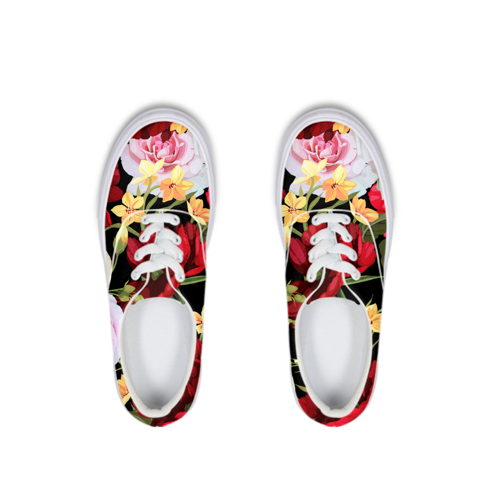 Official DON Flowers Lace Up Canvas Shoe