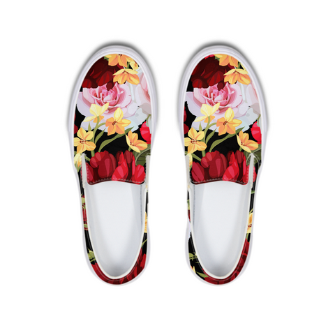 Official DON Flowers Slip-On Canvas Shoe