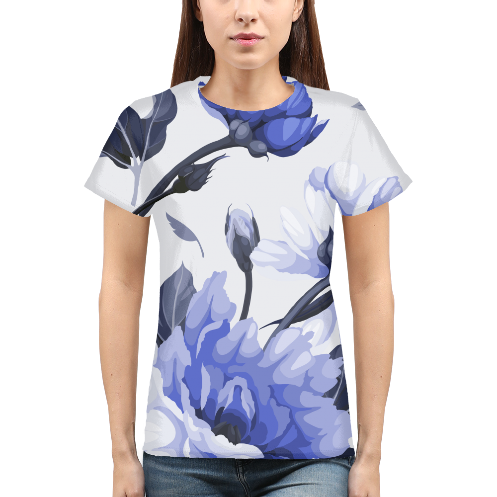Flower print Womens T-Shirt