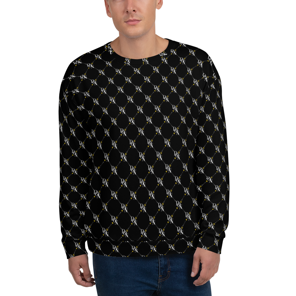 White Men's Official DON Signature Pattern Sweatshirt