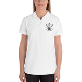 Womens Embroidered Loyalty Over Royalty Polo-Shirt