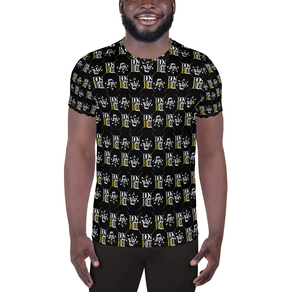 Black Official DON Men's Gold Print T-Shirt
