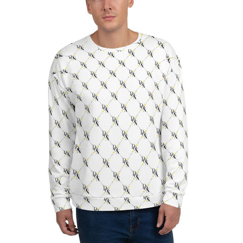 Official DON Men's Signature White Print Sweater
