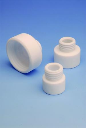 PTFE Adapters with Thread, 25 mm