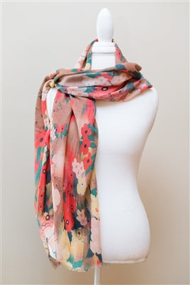 Whimsical Floral Scarf
