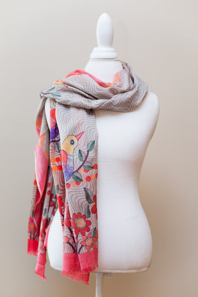 Eesme Birds of a Feather Cashmere Scarf