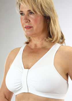 Post Mastectomy Front Closure Wide Strap Bra Style 800