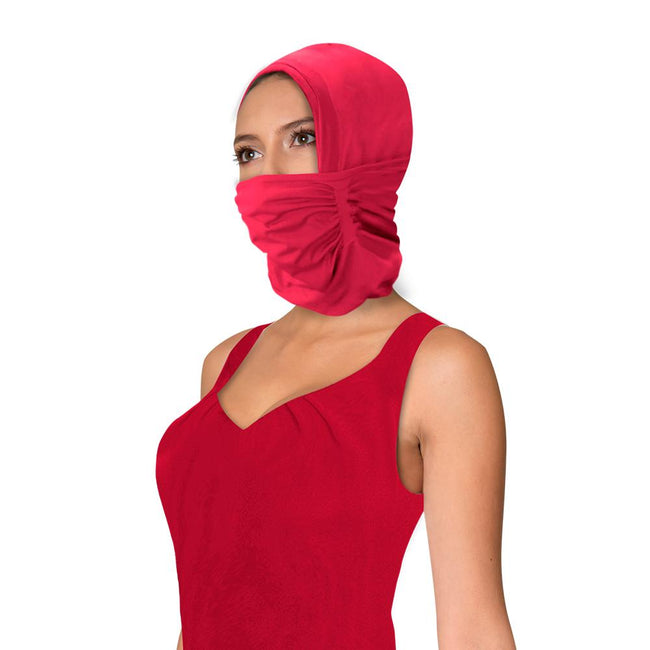 Headscarf with Mask made with Anti-Fluid Treatment - N100