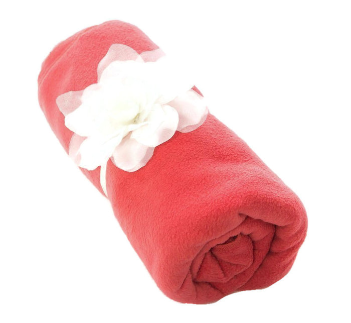 Fleece Blanket with Detachable Flower